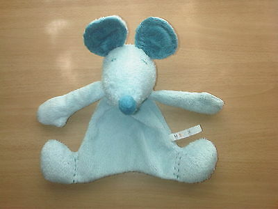 Mexx Mouse Comforter Soft Toy Blue Baby Blankie Doudou
