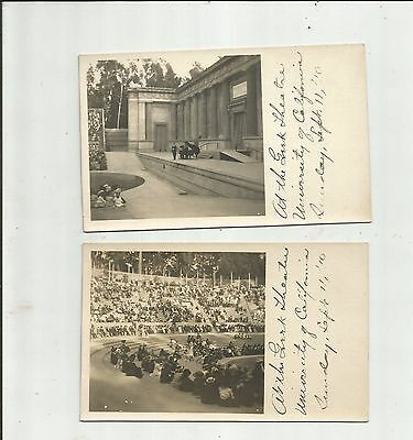2-1910 RPPC's University of California Greek Theater Real Photo Postcards