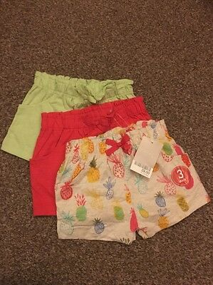 Next Baby Girl Shorts Set 9-12 Months, BNWT