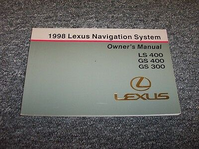 98 1998 lexus gs400 gs300 owners manual cad. Black Bedroom Furniture Sets. Home Design Ideas