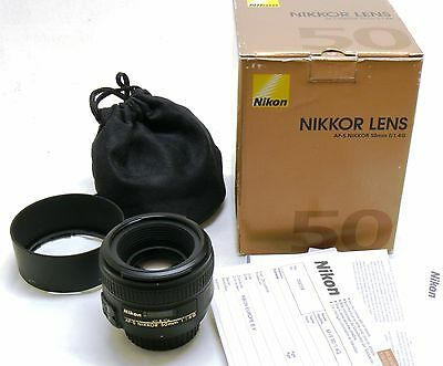 Nikon 50mm f/1.4 G Nikkor AF-S lens, boxed MINT