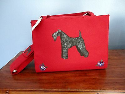 Kerry Blue Terrier Dog Hand Painted Purse One of a Kind -for you!