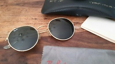 Vintage BAUSCH&LOMB  Ray-Ban green Gold round ARISTA   Sunglasses