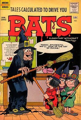 TALES CALCULATED TO DRIVE YOU BATS #2 G, loose cover, shadow, Archie Comics 1962