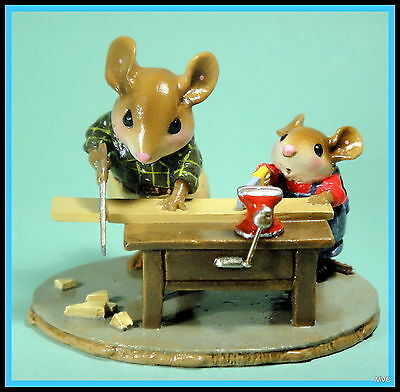 Wee Forest Folk M-367s JUST LIKE DADDY-Limited Ed. 5/08-6/08- RETIRED/Last One!