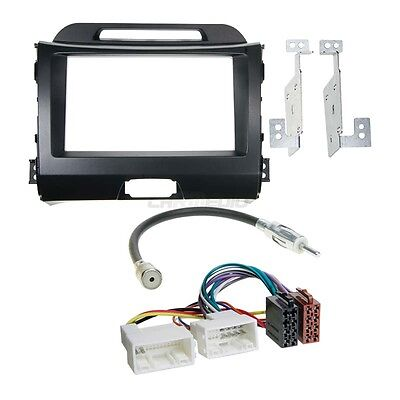 Kia Sportage 3 from 10 2-DIN Car Radio Installation Set+Cable,Adapter,