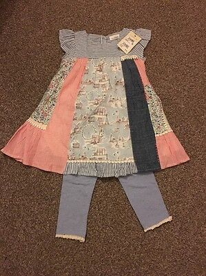 Next Baby Girl Dress And Leggings Outfit 9-12 Months BNWT