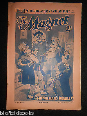 The Magnet; Billy Bunter's Own Paper - WWII Era Boy's Comic - March 30th 1940