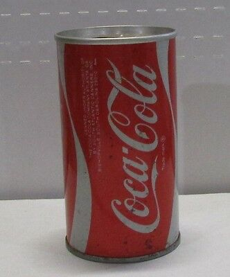 steel old logo coca-cola soda can bishopville south carolina  #1