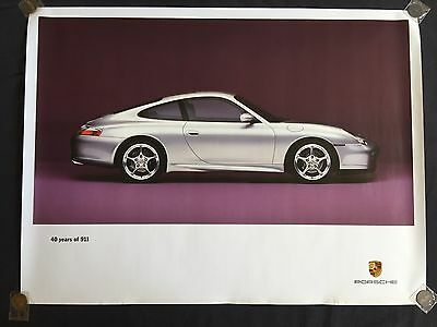PORSCHE OFFICIAL 911 996 40th ANNIVERSARY EDITION SHOWROOM POSTER 2004