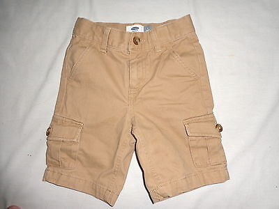 Sz 5 Regular - Boy- Tan Khaki Shorts By Old Navy - Adjustable Waist- Measured