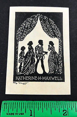Katherine H Maxwell Stage Play Signed Helge EX-Libris Bookplate