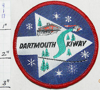 NEW HAMPSHIRE, DARTMOUTH SKIWAY SKI AREA LYME WOVEN VINTAGE 1960's ERA PATCH