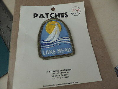 Vintage Souvenir Embroidered Iron On Patch Lake Mead Arizona Nevada NEW old