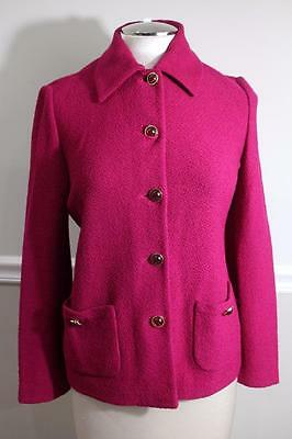 ST. JOHN COLLECTION Women's Red Wine Button Up JACKET Size 6 (JA600