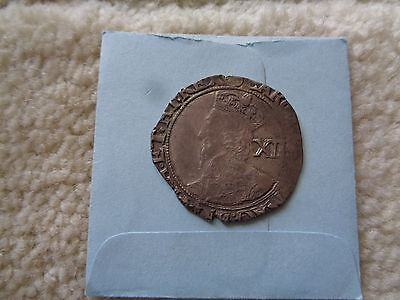 1644-45 Great Britain 1 Shilling silver coin Charles I