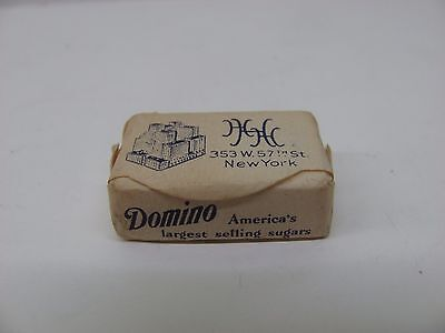 Vintage Domino Advertising Sugar Cube - The Henry Hudson Hotel - New York