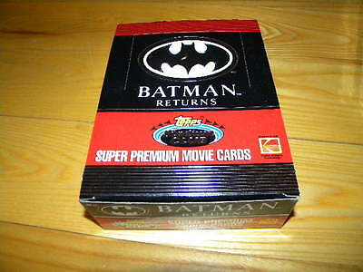 1991 Topps Stadium Club Batman Returns Wax Box of 36 Unopened Trading Card Packs