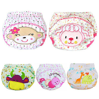 Baby Cotton Training Pants Reusable Cloth Washable Infant Nappies Diaper Eager