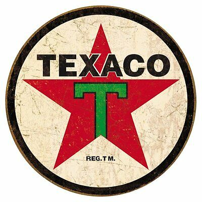 Texaco 1936 Logo Distressed Retro Vintage Tin Sign 12 x 12in