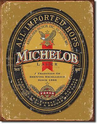 Michelob Vintage Tin Sign 13 x 16in
