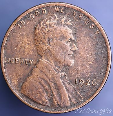 1926 United States US One cent Lincoln coin *[9362]