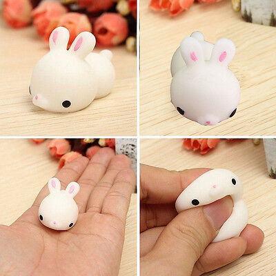 Bunny Rabbit Mochi Cute Squishy Squeeze Healing Stress Reliever Toy Gift Decor U