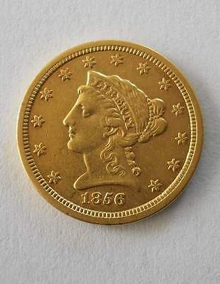 1856-S U.S. Gold $2.50 LIBERTY HEAD Coin $2 1/2 San Francisco