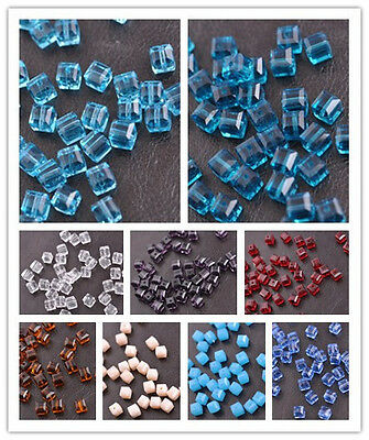 Cube Square Czech Crystal Faceted Loose Beads Jewelry Making 4MM 6MM 8MM