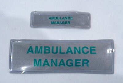 Encapsulated Reflective Paramedic Doctor Ambulance Medic Sew Chest Back Patch B1