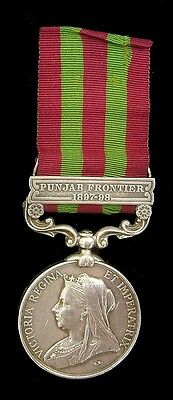 Victorian India Medal Punjab Frontier 1897-98 Clasp J.pearce.k.o.york.lt.infy