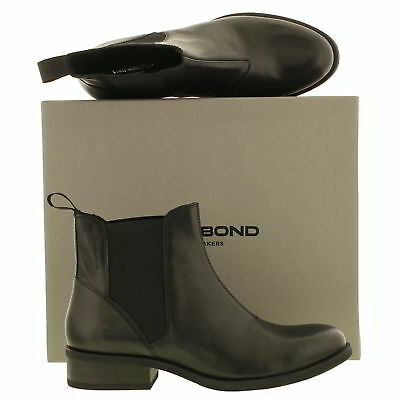 06cab8f55e Vagabond 4220-401 Cary Womens Black Leather Chelsea Ankle Boots Size UK  5-6.5