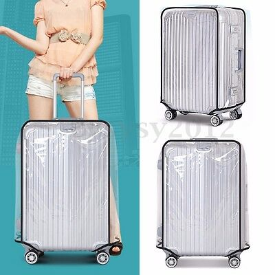 20''22''24''26''28''30'' PVC Transparent Travel Luggage Protector Suitcase Cover