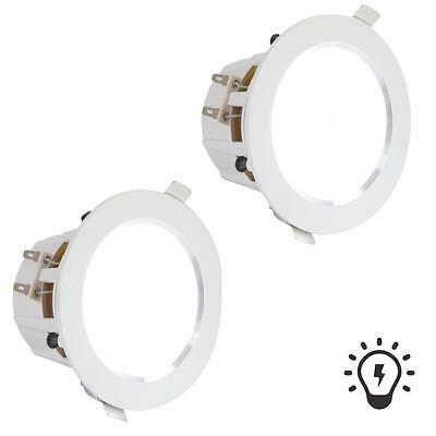 "Pyle PDICLE4 In-Ceiling In-Wall 2-Way, 4"" Speakers, W/ Built-in Led Light (Pair)"
