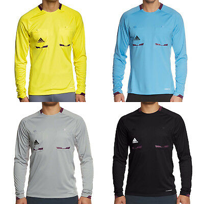 adidas Mens Climacool Long Sleeve Referee 12 Football Jersey Shirt Top