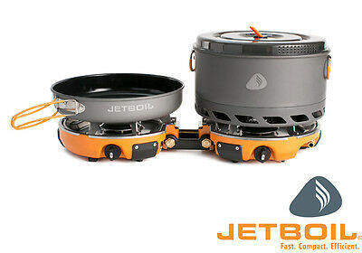 Jetboil GENESIS Base Camp Cooking System - ultra efficient propane camping stove