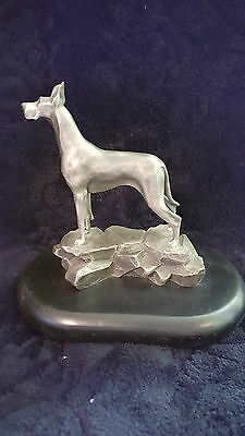 "Virginia Perry Gardiner's Pewter ""great Dane Bitch On Rocks"""