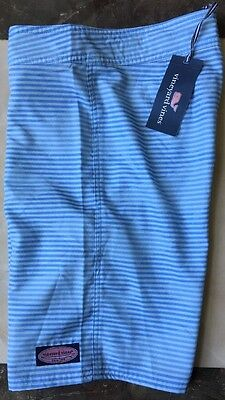 NWT Vineyard Vines Boys  GRAND SLAM STRIPED BOARD SHORTS SWIM TRUNKS, L (16),$55