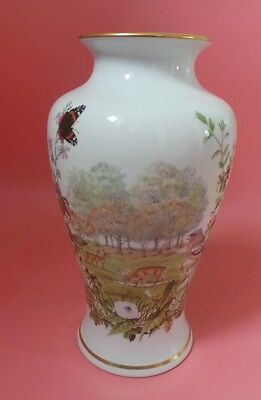 Franklin Porcelain THE AUTUMN GLEN VASE By Peter Barrett