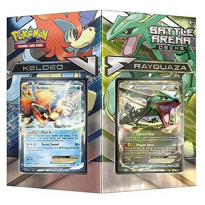 Pokemon TCG Battle Arena Decks Rayquaza vs Keldeo - Brand New!