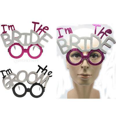 2pcs I'm The Groom Bride Hen's Night Party Glasses Men Women Wedding Gifts