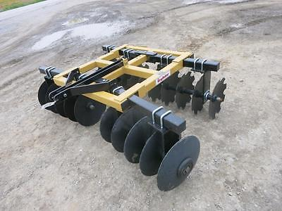 """King Kutter 6 1/2' Disc Harrow For Tractors, 18"""" Notched Front/Smooth Rear Discs"""