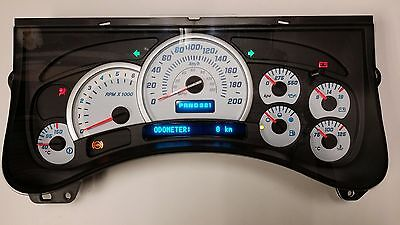 New Replacement 03-05 H2 Hummer Km Km/h Kilometer Metric White Gauge Cluster