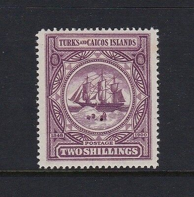 Turks & Caicos Is SG108 2s purple - lightly mounted mint £50