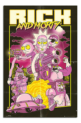 Rick & Morty Action Movie Poster New - Maxi Size 36 x 24 Inch