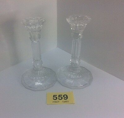 Pair Of Beautiful Glass Candlesticks