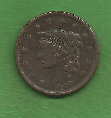 1837 Matron Head Modified, Large Cent - 180 Years Old!!!