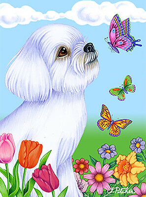Large Indoor/Outdoor Butterfly (TP) Flag - Maltese 98041