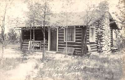 Largo Springs Michigan Log Cabin Store Real Photo Antique Postcard K60338