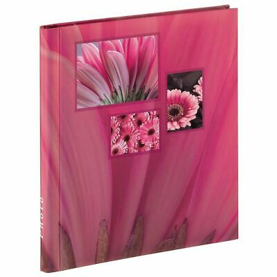 Large Self Adhesive Pink Flower Photo Album Case Book 20 Pages 6x4 '' Photos